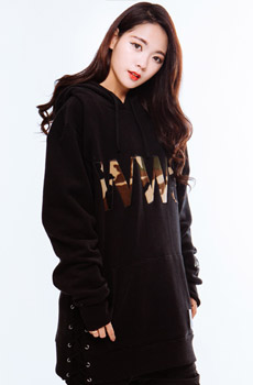 WWS LACE UP MILITARY HOODIE BLACK (품절)