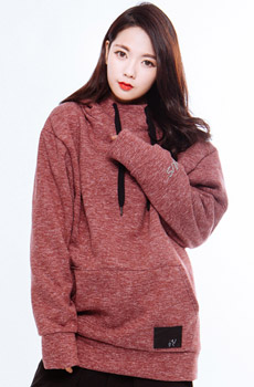 WWS SNOW BLOSSOM HIGHNECK HOODIE RED (품절)