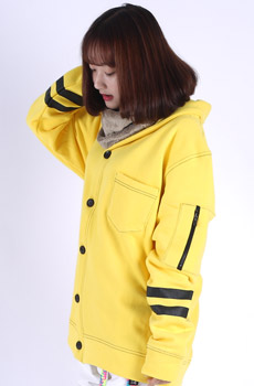 STITCH JACKET YELLOW   선글라스증정
