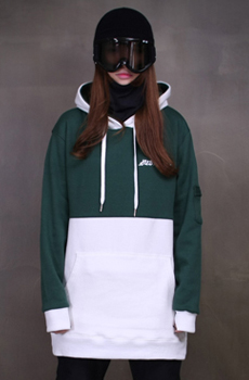2016/17 SUBPOINT TWO TONE HOODIE(GREEN/WHITE) (품절)